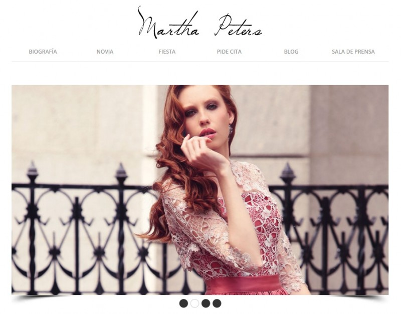 Portal o site de la diseñadora Martha Peters
