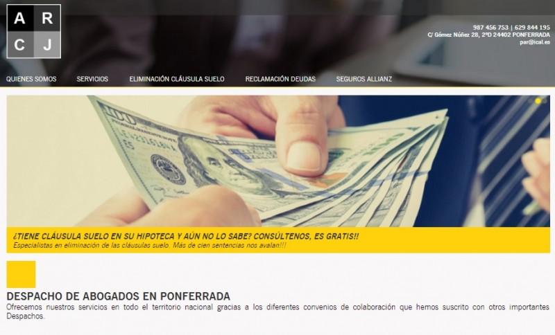 Página Web Para Despacho de Abogados En Ponferrada