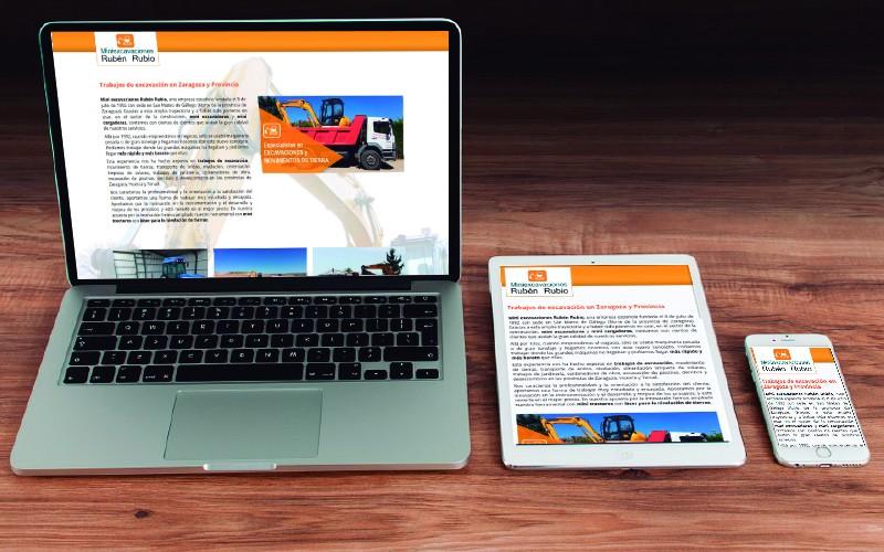 Nuestro Producto Landing Page personalizado para Mini Excavaciones Zaragoza