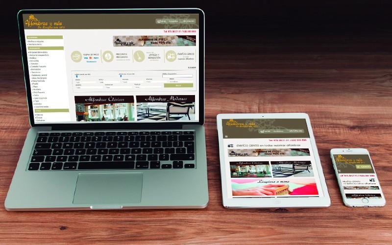 La Tienda Online de alfombras convertida en una Web Responsive