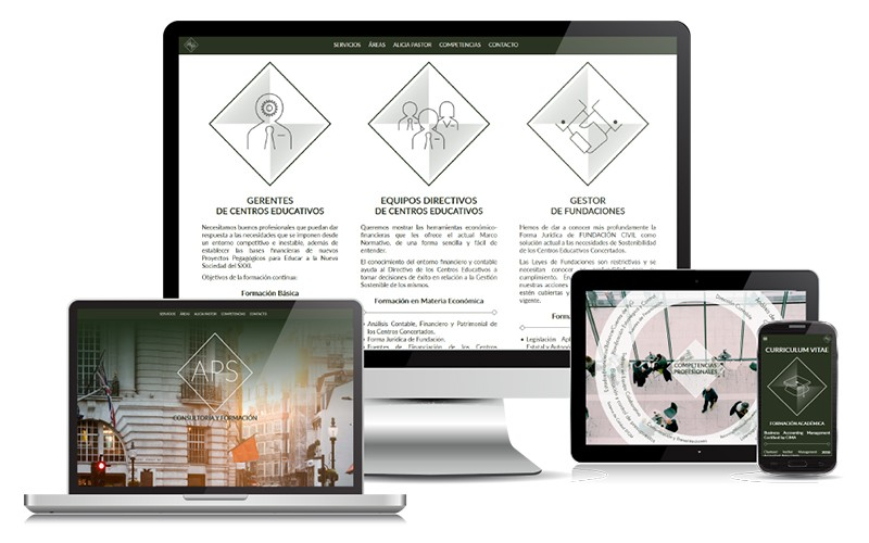 Landing Page para Alicia Pastor