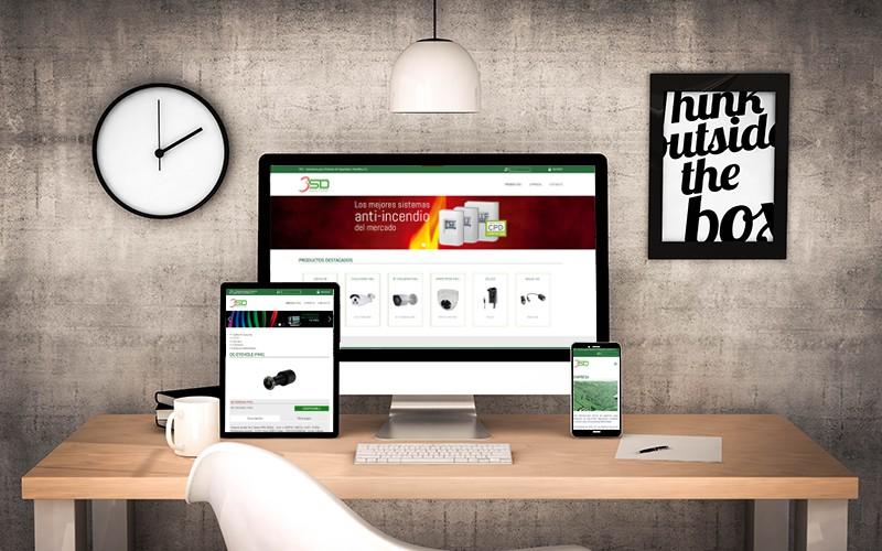 Página Web para la empresa zaragozana 3SD