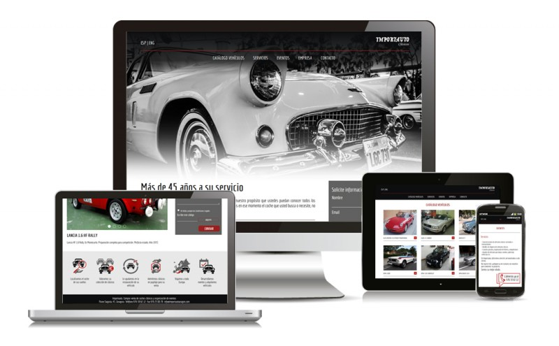 Nuevo Diseño de Página Web para Importauto