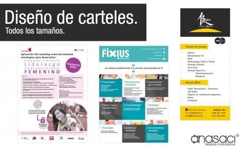 Diseño de Carteles para Cursos, Seminarios y publicitarios