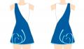 Diseño de maillot para equipo de gimnasia rítmica