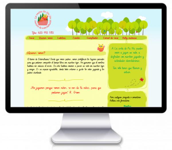 Página Web de Ludoteca en Rosales del Canal, Zaragoza