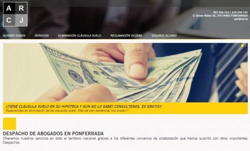 P�gina Web Para Despacho de Abogados En Ponferrada