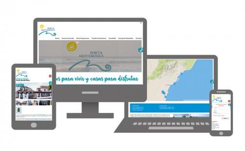 La elegancia hecha web para Porta Mediterránea