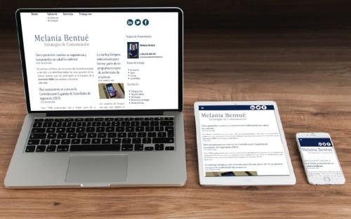 Nuevo Sitio Responsive para la periodista y licenciada en Ciencias de la Comunicación Melania Bentué