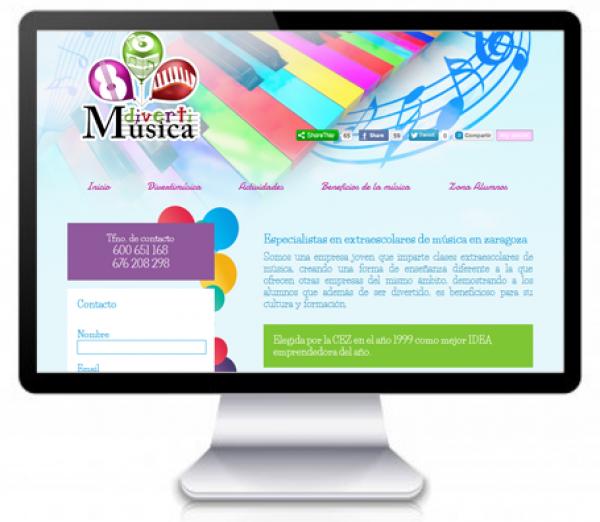 Diseño Web para Academia de Música: Divertimúsica