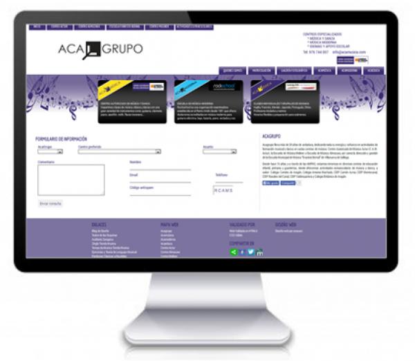 Diseño de Página Web para Academia de Música