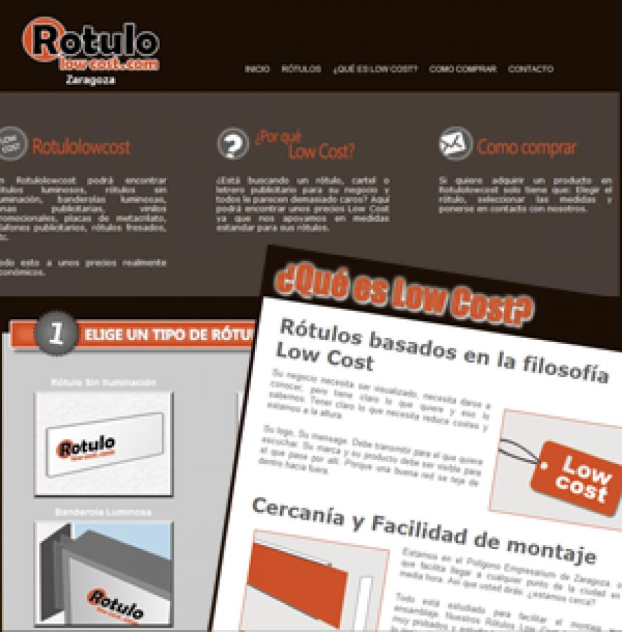 Diseño Negocios Online: Rótulos Low Cost en Zaragoza