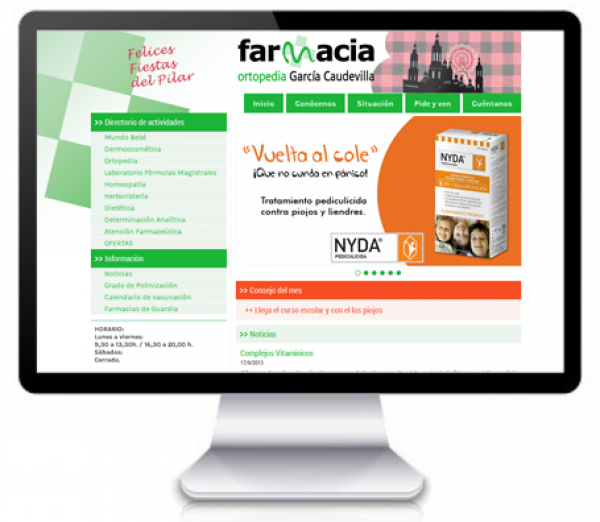 Web Farmacia - Ortopedia en el Arrabal de Zaragoza