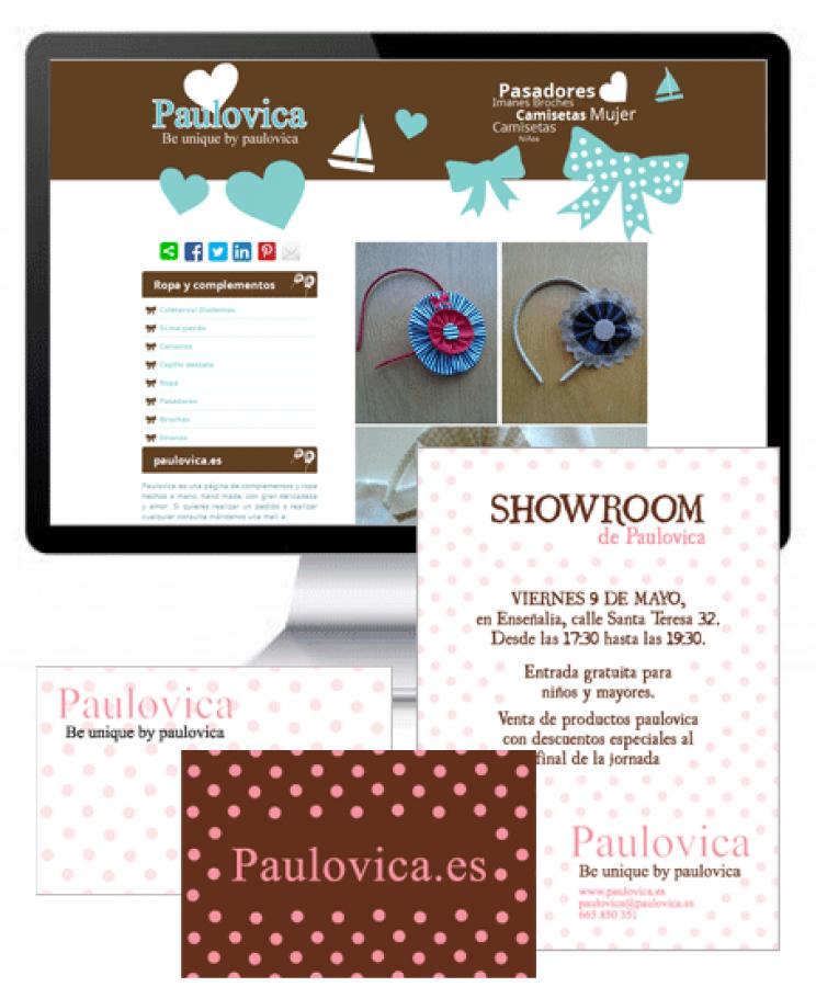 Flyer y tarjeta para completar la imagen corporativa de la diseñadora