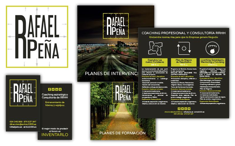 Tarjetas y flyers para Rafael Peña